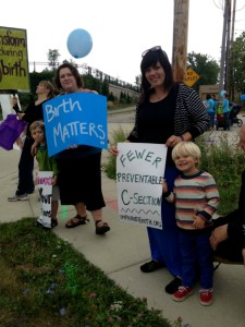 Photos by BRITTANY SEEMUTHWomen rallied in Shorewood, Wis. to educate, to imporve, and to advocate healthy birthing options.