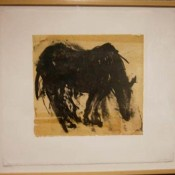 Domingo: Evening - lithograph on waxed mulberry, hand color, and chine colle