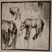 Herd: Trio - woodcut